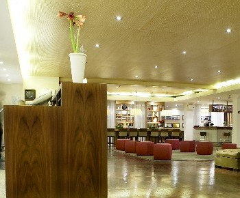 Stylish lobby of Hotel Amaranten